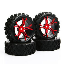 4x 6mm Offset 12mm Hex Rubber Rally Tires Wheel For HSP HPI RC 1:10 Off Road Car