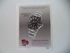 advertising Pubblicità 1993 OROLOGIO STENDARDO IMMERSION SPORT