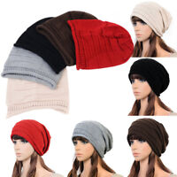 NEW Baggy Beanie Hat Unisex Women Men Winter Warm Knit Beret Oversized Ski Cap