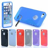 For Apple iPhone SE 5S 5 Gel Case S Line Design Silicone Rubber Cover