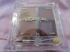 L'OREAL EYES CHEEKS AND LIPS THE FAST FACE IN A CASE GO MAUVE LOOK NEW L@@K