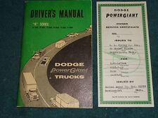1961 DODGE TRUCK OWNER'S MANUAL SET / ORIGINAL GUIDE BOOK SET