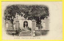 cpa 59 LE CATEAU (Nord) L' HÔPITAL PATURLE Monument Ch. SEYDOUX Animée DOS 1900e