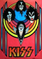 1976 KISS band black light poster replica magnet - new!