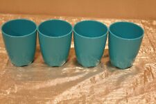New Beautiful Set of 4 Tupperware Open House Tumblers in Aqua Color 10oz