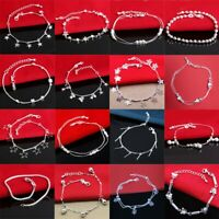 925 European sterling NEW Women silver bracelet Bracciali bangle chains Jewelry