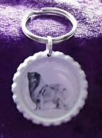 Rough Collie Keyring by Curiosity Crafts