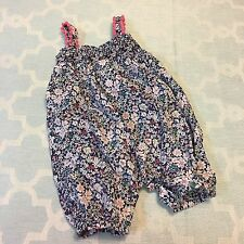 Girls Dymples Floral Romper Shorts Stylish  Size 3-6mos