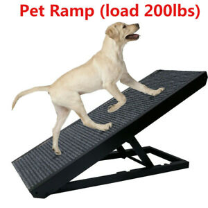 """Dog/cat Ramp 4 Adjustable Heights Bed/Couch Pet Ramp 40"""" - Folds Flat"""