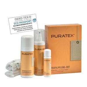 Das PURATEX® Textilpflege-Set für alle textilen Polsterbezüge