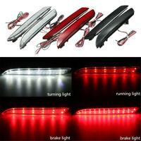 2x Tail Rear Bumper Reflector LED Brake Stop Light Lamp For Honda CR-Z CR-V