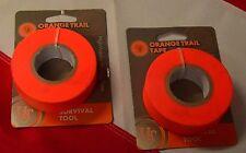 Orange Trail Tape Flagging survival prepper camp backpack tactical gear UST X2