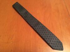 "vtg 50s Regal The Stag Shop Gray Geometric Silk Skinny Tie ROCKABILLY 54"" 1.75"""