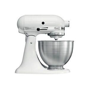 KitchenAid Classic 5K45SSBWH 4.3L Stand Mixer - White