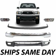 New Complete Front Bumper Combo Kit w/ Lower Lights For 2001-2004 Toyota Tacoma