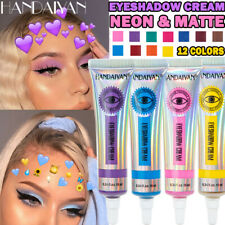 Matte Neon Eyeshadow Cream Colorful High Pigment Yellow Pink Eye Shadow Dust Sum