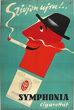 Vtg Orig. Poster Symphonia cigarette, Sign: Macskássy 1957