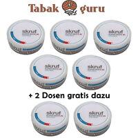 5x Skruf Super White Ice #3 Kautabak, Chewing Bags Slim Size + 2 Dosen Gratis