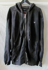 True Religion Coated Moto Zip Up Hoodie Jacket -Charcoal -Size 2XL/3XL-NWT $189