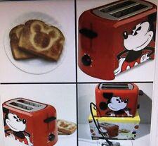 Nib Disney Mickey Mouse 2 Wide Slice Toaster Bagel Mickeys Logo School Kitchen