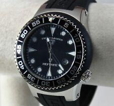 Swiss Legend Neptune Men's Watch, Black/Stainless, Black Silicone, Swiss Quartz