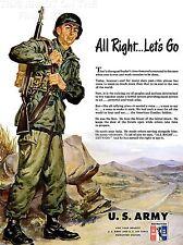 ART PRINT POSTER ADVERT 1951 US ARMY KOREAN WAR RECRUITMENT NOFL1482