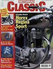 Motorrad Classic 1/99 1999 Lohner Roller Triumph K 9 UT TS 252 BMW R 51/2 Regina