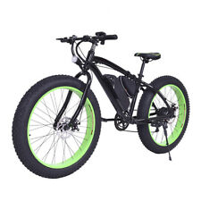 Electric Fat Tire Bike Mountain Snow Bicycle E-Bike Lithium Battery 7 Speed 350W