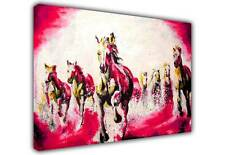 ABSTRACT CANVAS PICTURES WALL ART PRINTS RUNNING STALLIONS MODERN ART PHOTOS
