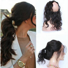 "Brazilian Hair 360 Lace Frontal Closure Body Wave Full Lace Brand  22.5""x4""x2"""