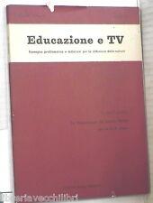 EDUCAZIONE E TV 1965 Didattica nei centri di lettura Scuola media Cultura Radio
