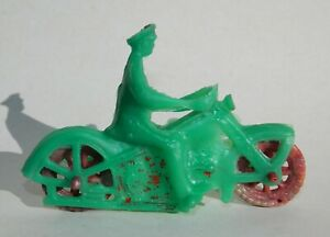 VINTAGE RARE HARLEY DAVIDSON MOTORCYCLE POLICE HUBLEY AUBURN MEXICAN TOY GREEN