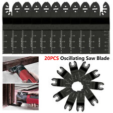 20PCS universal 34mm oscillating Multi tool saw blades Carbon Steel Cutter Black