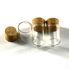 10pcs 8ml Empty Sample Vials Clear Glass Bottles with Corks Jars Small bottle