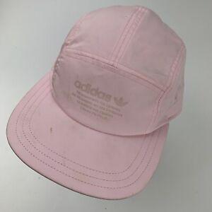 Adidas 3 Stripes Brand Pink 5 Panel Ball Cap Hat Adjustable