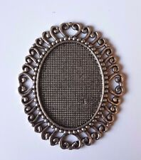 1 XL Marco Decorativo De Plata De Casa De Muñecas 1:12th escala Ornamento Cuadro Victoriano