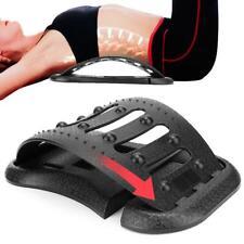 Back Massager Lumbar Support Spine Muscle Pain Relief Strecher Relax Massage Gym