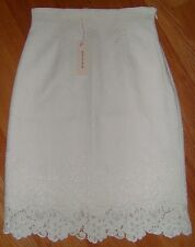 NWT REBECCA TAYLOR Matelasse Pencil Skirt White Chalk Size 4 Small XS S $325