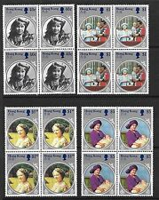HONG KONG, 1985, LIFE & TIMES OF QUEEN MOTHER, SG 493-96  MNH SET, MNH BLOCKS 4