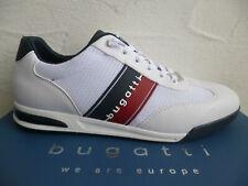 Bugatti Herren Sneaker Freizeitschuhe Schnürschuhe Halbschuhe Weiß 19641