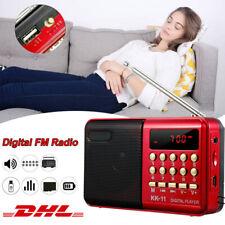 Tragbares FM Radio MP3 Lautsprecher Player Digital Radio mit Batterie USB Cable