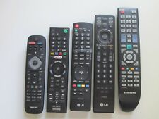 Sony, Samsung, Philips and LG TV Remote lot Bundle Five