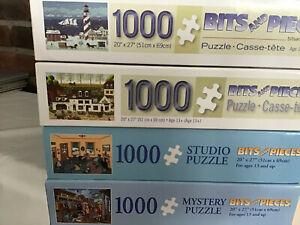 Four (4) Bits & Pieces 1000 Piece Jigsaw Puzzles