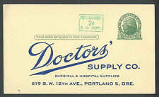 Ca 1952 PC Doctors Supply Co Portland Of Offers Surgical&Hospital Supplies List