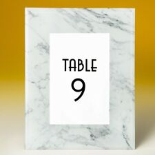 15 Marble Glass Wedding Reception Table Number Frames