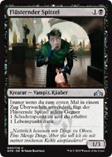 4 Whispering Snitch / Flüsternder Spitzel (mint, Gilden von Ravnica, deutsch)