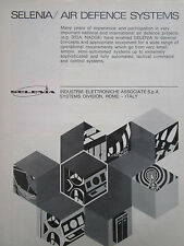 3/1972 PUB SELENIA AIR DEFENCE SYSTEMS TACTICAL COMMAND CONTROL ORIGINAL AD