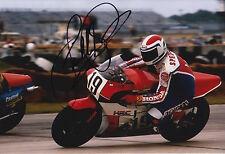 Freddie Spencer Hand Signed 12x8 Photo Honda HRC MotoGP Legend.