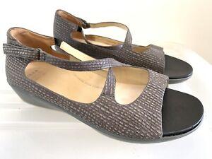 ZIERA (Kumfs) Gabrielle Leather Sandals Flats Size 41 W #16036