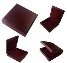 WOODEN COIN BOX DISPLAY CASE HOLDER FOR ONE COIN !